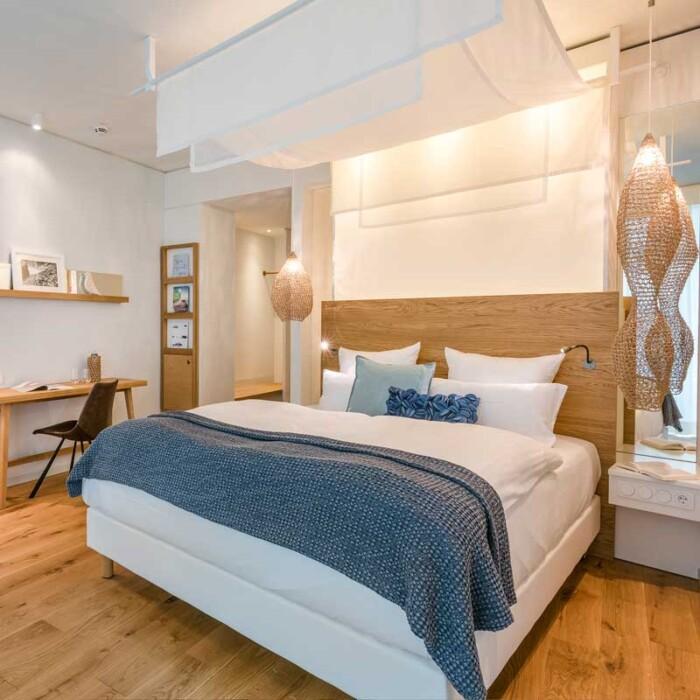Decke in blau - Online Shop Seezeitlodge Hotel & Spa