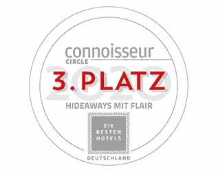 Seezeitlodge Hotel & Spa - Auszeichnungen Connoisseur 3 Platz