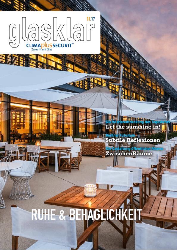 hotel seezeitlodge bostalsee pressestimmen architektur glassklar 02.17 cover