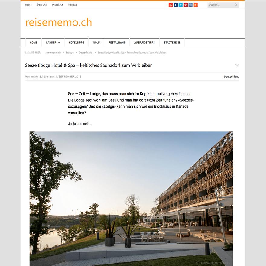 Pressestimmen Blog reisememo.ch Artikel von Walter Schärer