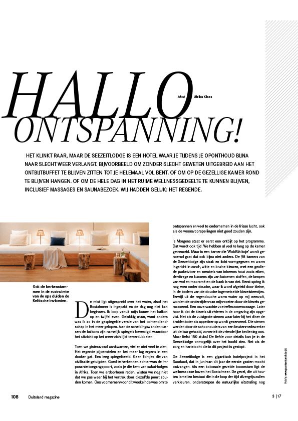 hotel seezeitlodge bostalsee pressestimmen duitsland magazine 3.17 seite1