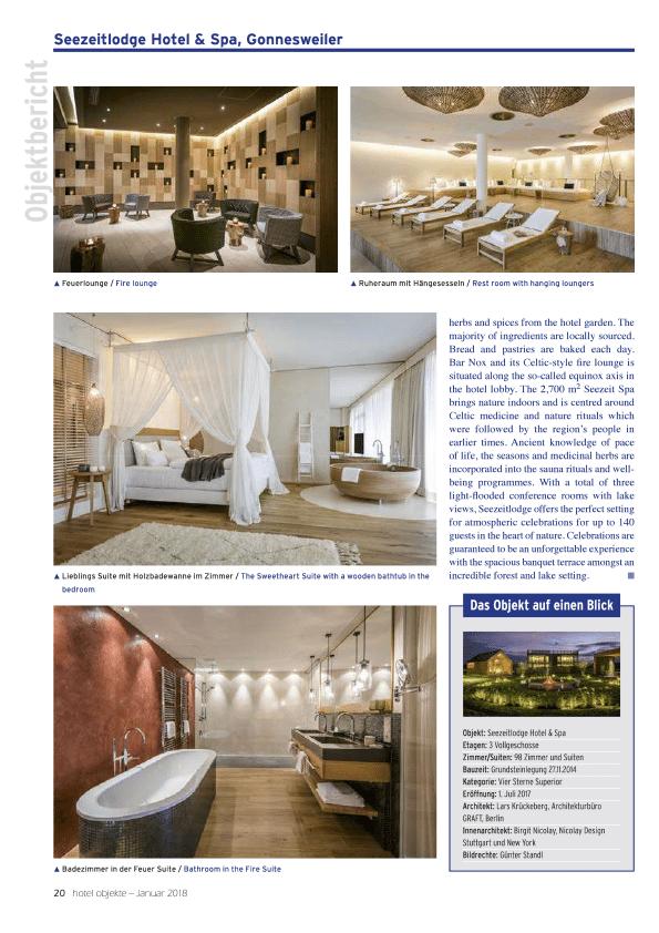 Fachmagazin hotel objekte   01/2018