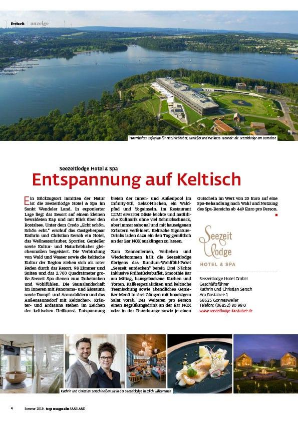 Pressestimme: Topmagazin Saarland, Sommer 2019
