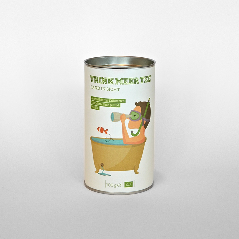 """Trink Meer Tee loser Tee """"Land in Sicht"""" - Online Shop Seezeitlodge Hotel & Spa"""